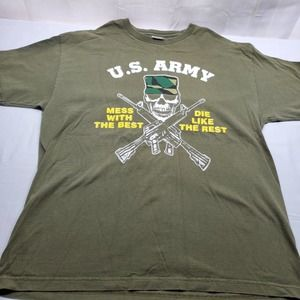 US Army Mess With The Best T-Shirt XL Green
